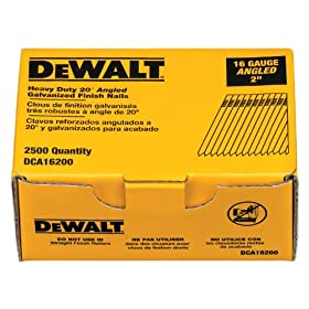 DEWALT DCA16200 2-Inch by 16 Gauge 20-Degree Finish Nail (2,500 per Box)