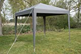 Airwave 2.5 x 2.5 m Pop-Up Garden Gazebo with 2 Wind-Bars and 4 Leg Weight Bags - Grey