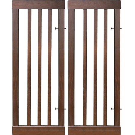 """Dynamic Accents Home Indoor Dog Cat Safety Barrier Fence Citadel 12"""" Gate Extension Kit Contains 2 front-77796"""
