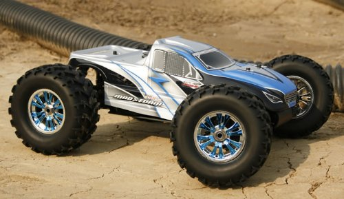 Exceed RC Mad Storm 1/8 Beginner's Nitro Gas 4WD Monster Truck RTR w/ .21 Engine Alpha Blue Limit Edition OR NEXT AVAILABLE COLOR SENT AT RANDOM