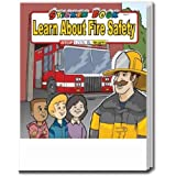 Learn About Fire Safety Sticker Guide Book Trade Show Giveaway