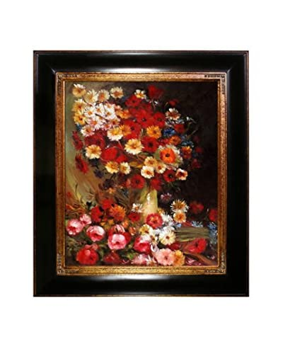 Vincent Van Gogh Vase With Poppies Cornflowers Peonies And Chrysanthemums Hand-Painted Reproductio...