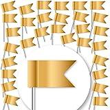 30 Stück Markierungsfahnen DELUXE - MATT-GOLD -...