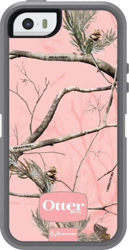 Special Sale OtterBox Defender Series Case for iPhone 5S - Retail Packaging - Realtree Pink Camo - Gray/White