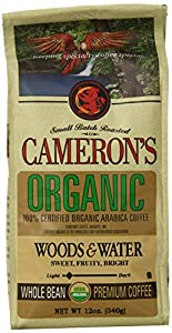 Cameron's Organic Woods and Waters Whole Bean Coffee, 12-Ounce Bags (Pack of 3)