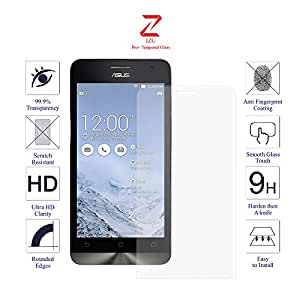 Asus ZenFone 5 Glass Screen Protector Tempered Glass-Pack of 1 , IZU® Pro Tempered Glass Ballistics Glass, 99% Touch-screen Accurate, Anti-Scratch, Anti-Fingerprint, Round Edge [0.3mm] Ultra-clear - Retail Packaging