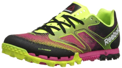 Reebok Women's All Terrain Super Running Shoe,Neon Yellow/Black/Candy Pink/White,9.5 M US