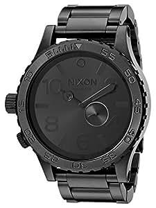 Nixon Men's A057-001 Stainless-Steel Analog Black Dial Watch