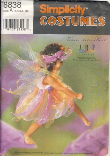 Simplicity Sewing Pattern - 8838 - Use to Make - Child Fairy Costume - Sizes 3, 4, 5, 6, 7, 8