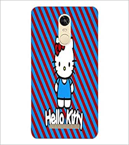 PrintDhaba Hello Kitty D-5609 Back Case Cover for XIAOMI REDMI NOTE 3 PRO (Multi-Coloured)