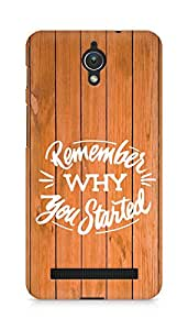 AMEZ remember why you started Back Cover For Asus Zenfone C ZC451CG