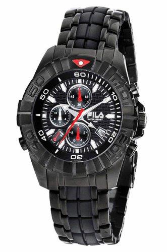 Fila Men's Mastertime Chronograph Black Dial Watch #FA0794-61