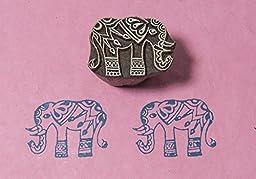Blockwallah Patterned Elephant Wooden Block Stamp