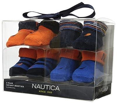 Nautica Baby-Boys Newborn 4 Pack Booties