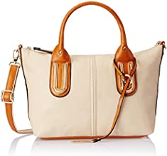 Gussaci Italy Women's Handbag (Beige) (GC043)