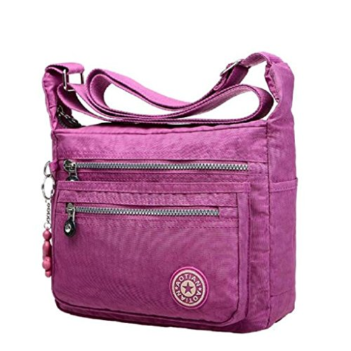 2016-new-fashion-leisure-womens-girls-waterproof-nylon-messenger-bags-shoulderbags-light-purple