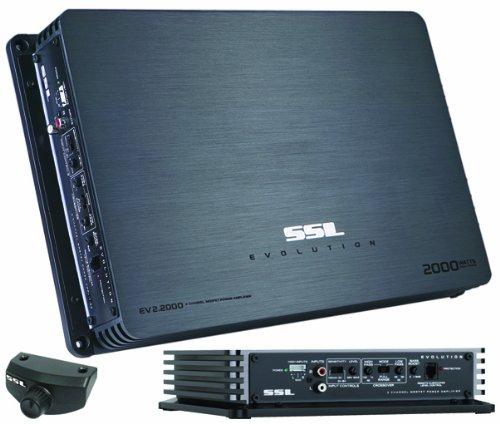 Ssl Ev2.2000 Evolution 2,000-Watt 2-Channel Mosfet Amplifier With Remote Subwoofer Level Control
