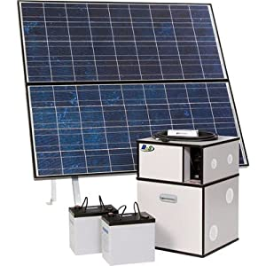 BPS 1250 Watt, 2 Battery Power System with 2 Solar Panels - Model# BPS-1250-S