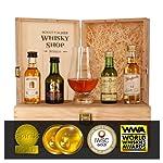 Set Bester Whisky - Gold-prämiert und ausgezeichnet - Aberlour 10, Glenlivet 12, Bunnahabain 12, Glenfarclas 12 und Glencairn Whiskyglas, guter Whisky im Set