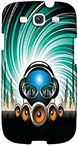 Timpax protective Armor Hard Bumper Back Case Cover. Multicolor printed on 3 Dimensional case with latest & finest graphic design art. Compatible with Samsung S3 - I9300 Galaxy S III Design No : TDZ-28738