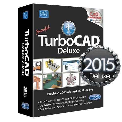 TurboCAD Deluxe 2015 - affordable 2D Drafting & 3D Modeling CAD Software (3d Modeling Software compare prices)