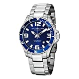 Stuhrling Original Men's 395.33U16 Aquadiver Regatta Analog Swiss Quartz Stainless Steel Link Bracelet Watch