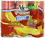 V8 V-Fusion Light Strawberry Banana Juice Drink, Six 8 Fl Oz Cans (Pack of 4)