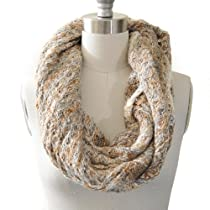 Basic Look Tight Neck Infinity Scarf Beige Color