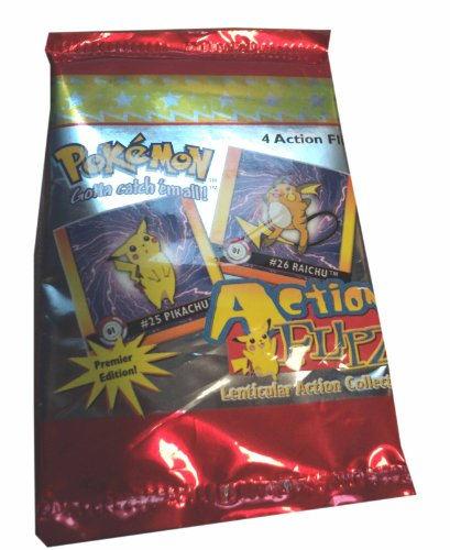 Pokemon Action Flipz 4-Pack (Premier Edition), Lenticular Action Collection 1999