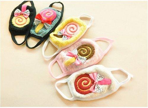 Steve Yiwu Candy Color Plush Warmth Lollipop Mask--Children(Color Randomly Send)