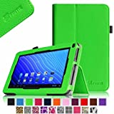 Fintie Double Power M series EM63 7'' Folio Case - Premium PU Leather Stand Cover with Stylus Holder Only Fit 7-inch Double Power DOPO EM63 Tablet - Green