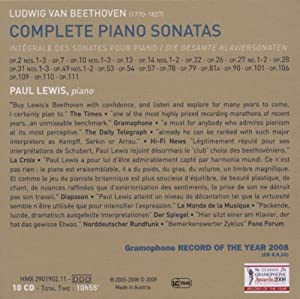 Beethoven: Complete Piano Sonatas (Paul Lewis) 10 CD set by Harmonia Mundi