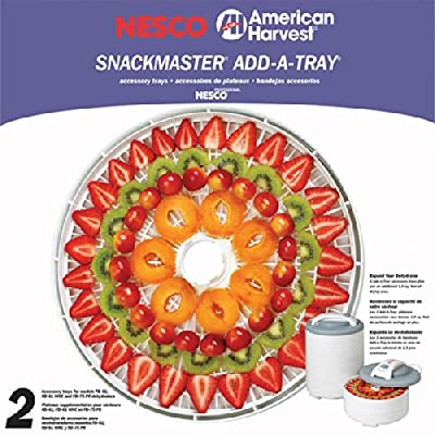 "Nesco - Snackmaster Pro Add-A-Tray S For Fd-61/61Whc/75Pr Food Dehydrator/Jerky Maker - 2 Pack ""Product Category: Home Appliances/Food Dehydrators"""