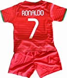 2014 Cristiano Ronaldo Home Portugal Football Soccer Kids Jersey & Short