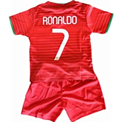 Buy 2014 Cristiano Ronaldo Home Portugal Football Soccer Kids Jersey & Short FREE PORTUGAL GIFT by FPF