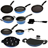 Apricoat Premium Quality 2.6mm Thickness 10 Pcs Non-stick Cookware Set