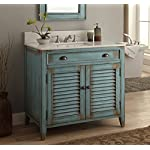 Silkroad Exclusive Travertine Top Single Sink Bathroom Vanity with White Oak Finish Cabinet, 26-Inch