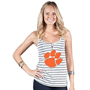 Brand New Clemson Tigers NCAA Courtney Ladies Button Tank Top  by Things for You