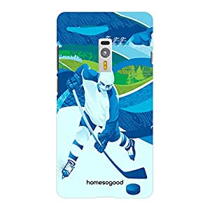 HomeSoGood Ice Hockey White 3D Mobile Case For OnePlus 2 (Back Cover)