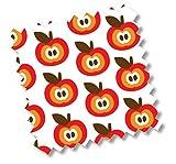 millemarille 2517Colchón de viaje, Funky Apples, aprox. 60x 120x 4cm