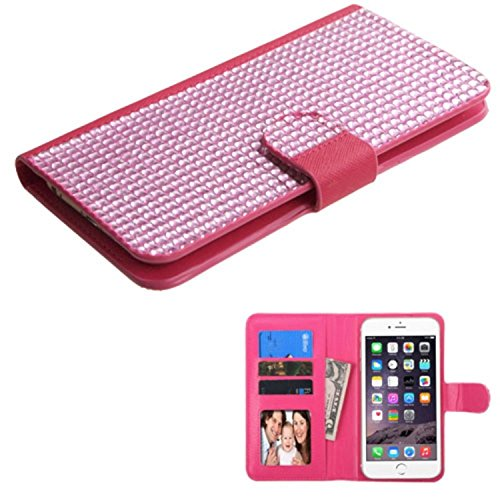 MyBat Wallet Case for Apple iPhone 6 Plus, ASUS Zenfone 2 & Other Smartphones - Retail Packaging - Pink