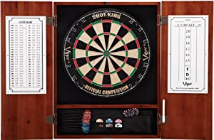 Viper Metropolitan Collection Bristle Dartboard Cabinet (Cinnamon Finish)