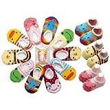 5 Pair LOCOMO Baby Toddler Anti Slip Skid Socks Age 1-3/ 9-15cm/FBA012