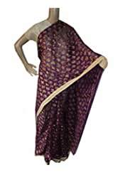 Beautiful RUDA Designer Phulkari Embroidered Saree-JS1105