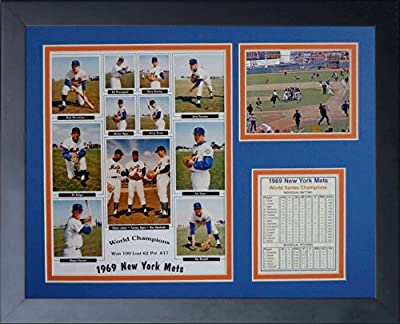 """Legends Never Die """"1969 New York Mets"""" Framed Photo Collage, 11 x 14-Inch"""