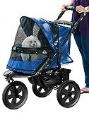 Pet Gear No-Zip AT3 Pet Stroller, with Zipperless Entry, Midnight River