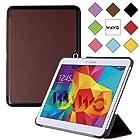 WAWO Samsung Galaxy Tab 4 10.1 Inch Tablet Smart Cover Creative Fold Case - Brown