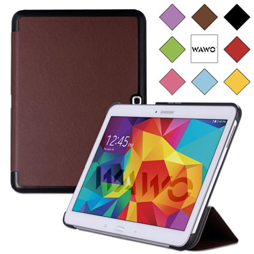 Wawo Samsung Galaxy Tab 4 10.1 Inch Tablet Smart Cover Creative Fold Case - Brown