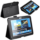 JKase (TM) Ultra Slim Folio Cover Case For Samsung Galaxy Note 10.1 Inch Tablet N8000 N8010 16G 32G 3G 4G Wifi...