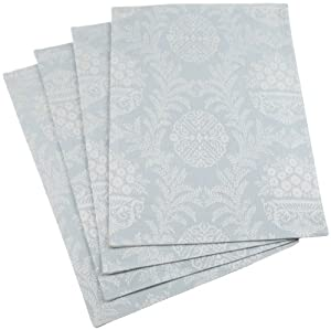 Mahogany Victoria Blue Jacquard-Weave Placemat 13-inch by 19-inch, Set of 4, 100-Percent Cotton